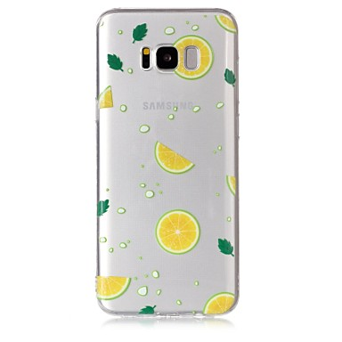 voordelige Galaxy S-serie hoesjes / covers-hoesje Voor Samsung Galaxy S8 Plus / S8 / S7 edge Transparant / Patroon Achterkant Fruit Zacht TPU