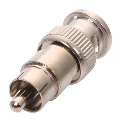 olcso CCTV rendszerek-Konnektor 10Pcs BNC Male Plug to RCA Male Plug RG59 Coax Cable Video Adapter Connector mert Biztonság Systems 5*1cm 0.01kg