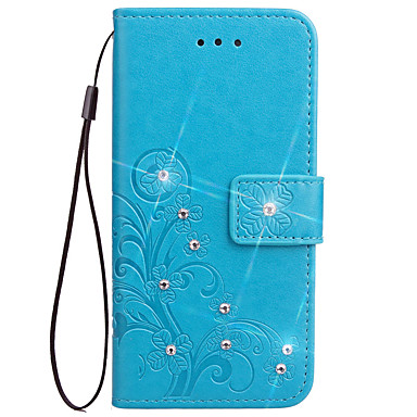 voordelige Galaxy Note-serie hoesjes / covers-hoesje Voor Samsung Galaxy Note 5 / Note 4 / Note 3 Portemonnee / Kaarthouder / met standaard Volledig hoesje Bloem Hard PU-nahka