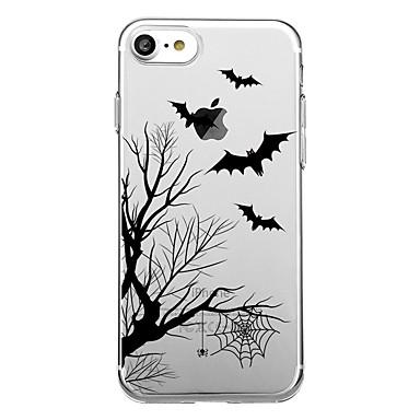 voordelige iPhone-hoesjes-hoesje Voor iPhone 7 / iPhone 7 Plus / iPhone 6s Plus iPhone SE / 5s Transparant / Patroon Achterkant Boom / Halloween Zacht TPU
