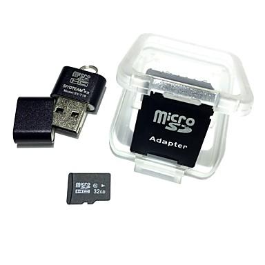olcso Micro SD Card-hangya 32g micro sd kártya tf kártya sd kártya adapter és kártyaolvasó 3in1 készlet 64g 16g 8g 4g class10 memória microsd tf / sd kártya