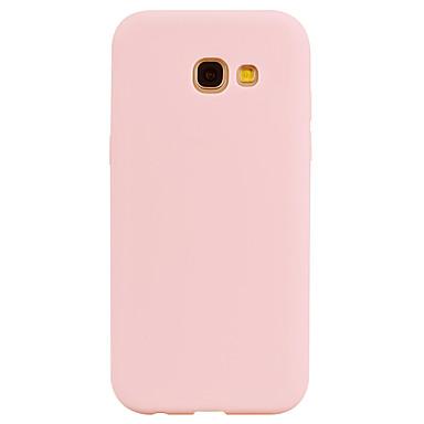 رخيصةأون حافظات / جرابات هواتف جالكسي A-غطاء من أجل Samsung Galaxy A3 (2017) / A5 (2017) / A7 (2017) اسفنجي غطاء خلفي لون سادة ناعم TPU