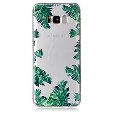 Недорогие Чехлы и кейсы для Galaxy S-Кейс для Назначение SSamsung Galaxy S8 Plus / S8 / S7 edge Прозрачный / С узором Кейс на заднюю панель дерево Мягкий ТПУ
