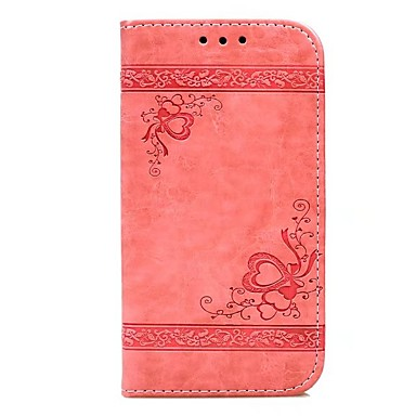 رخيصةأون أغطية أيفون-غطاء من أجل Apple iPhone X / iPhone 8 Plus / iPhone 8 محفظة / حامل البطاقات / مع حامل غطاء كامل للجسم قلب قاسي جلد PU