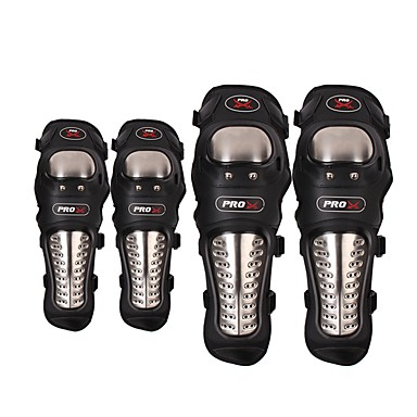voordelige Beschermende uitrusting-pro-biker outdoor racing roestvrij staal motorfiets beschermende kniebeschermer elleboogbeschermer motocross beschermbeschermers lichtgewicht