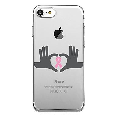 voordelige iPhone 5 hoesjes-hoesje Voor iPhone 7 / iPhone 7 Plus / iPhone 6s Plus iPhone SE / 5s Transparant / Patroon Achterkant Woord / tekst Zacht TPU
