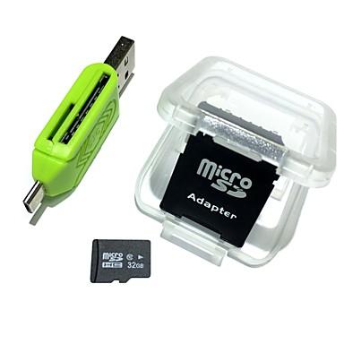 olcso Micro SD Card-hangyák 32 GB-os micro sd kártya tf kártya adapter és kártyaolvasó 3in1 készlet kombinációja 64 g 32 g 8 g memória microsd tf / sd kártya