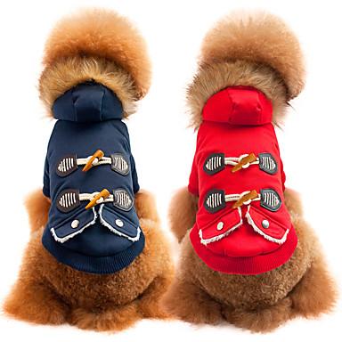 olcso Ajándékok állatkedvelők számára-Kutya Kabátok Tél Kutyaruházat Légáteresztő Piros Kék Jelmez Pamut Egyszínű Casual / hétköznapi Divat S M L XL XXL