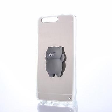 Недорогие Кейсы для Huawei других серий-Кейс для Назначение Huawei Honor 4X / Huawei Honor 7 / Huawei P9 P10 Plus / P10 Lite / P10 Зеркальная поверхность / Своими руками / болотистый Кейс на заднюю панель Однотонный Твердый ПК