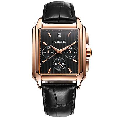 38c77200a8e6 Men s Sport Watch Wrist Watch Quartz Genuine Leather Black   Brown 30 m  Calendar   date   day Creative Cool Analog Luxury Casual Fashion Elegant  Wood ...