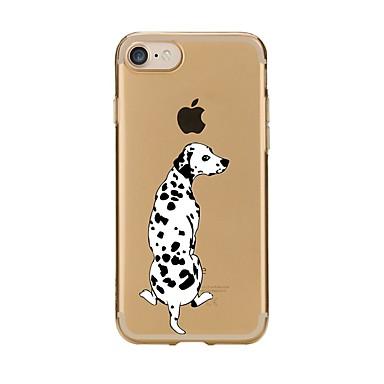 voordelige iPhone 5c hoesjes-hoesje Voor Apple iPhone 7 Plus / iPhone 7 / iPhone 6s Plus Transparant / Patroon Achterkant Hond Zacht TPU