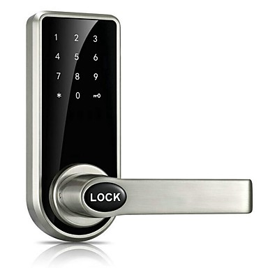 cheap Access Control-Door Lock Smart Lock Digital Deadbolt Electronic Lock Touchscreen Keypad Code Lock with 5 RFID Card for Villa Office Hotel Apartment Knob Handle Zinc Alloy Stainless Steel Smart Home Security System