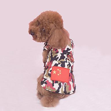 7981b5dd0b4 [€15.59] Σκύλος Veste Ρούχα για σκύλους Εθνική Σημαία Κόκκινο / Μπλε  Βαμβάκι Στολές Για ...