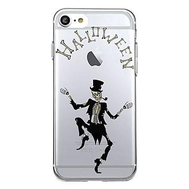 voordelige iPhone-hoesjes-hoesje Voor iPhone 7 / iPhone 7 Plus / iPhone 6s Plus iPhone SE / 5s Transparant / Patroon Achterkant Halloween Zacht TPU