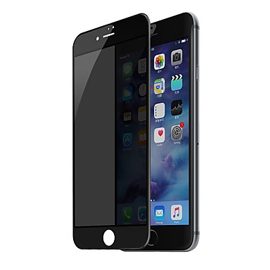 voordelige iPhone screenprotectors-Screenprotector voor Apple iPhone 8 Gehard Glas 1 stuks Volledige behuizing screenprotector Krasbestendig / Privacy anti-inkijk / 3D gebogen rand