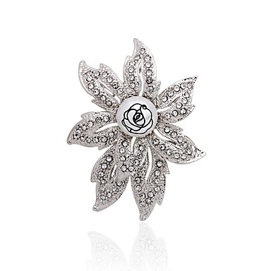 povoljno Broševi-Žene Broševi Cvijet Moda Elegantno Umjetno drago kamenje Broš Jewelry Srebro Za Party Kauzalni
