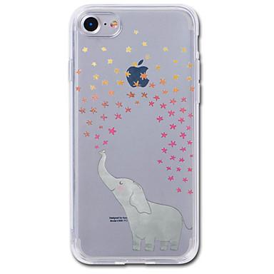 voordelige iPhone 7 hoesjes-hoesje Voor iPhone 7 / iPhone 7 Plus / iPhone 6s Plus iPhone SE / 5s Transparant / Patroon Achterkant Cartoon / Olifant Zacht TPU