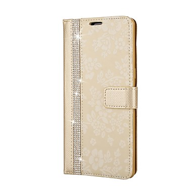 voordelige Galaxy Note-serie hoesjes / covers-hoesje Voor Samsung Galaxy Note 8 Portemonnee / Strass / met standaard Volledig hoesje Bloem Hard PU-nahka