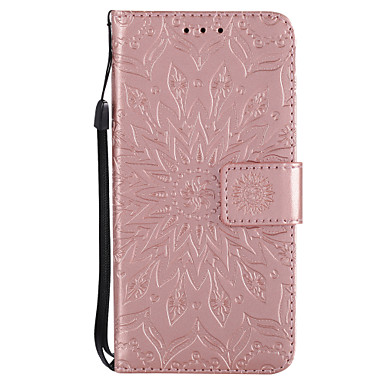 cheap iPhone Cases-Case For Apple iPhone X / iPhone 8 Plus / iPhone 8 Wallet / Card Holder / with Stand Full Body Cases Mandala / Flower Hard PU Leather