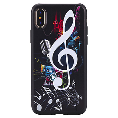 voordelige iPhone 5 hoesjes-hoesje Voor Apple iPhone X / iPhone 8 Plus / iPhone 8 Reliëfopdruk / Patroon Achterkant Cartoon / Punk Zacht TPU