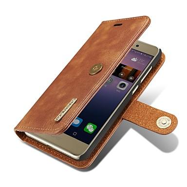 voordelige Hoesjes / covers voor Huawei-hoesje Voor Huawei P9 / Huawei P10 Plus / P10 / Huawei P9 Portemonnee / Kaarthouder / Flip Volledig hoesje Effen Hard aitoa nahkaa