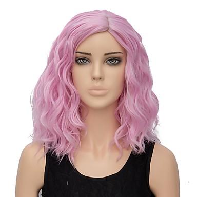 Szintetikus parókák Hullám Pink Rózsaszín Szintetikus haj Női Ombre haj  Pink Paróka Rövid Sapka nélküli 6240814 2019 – €18.95 788fa74c9b