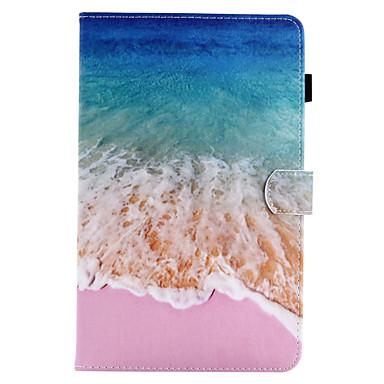 رخيصةأون حالة سامسونج اللوحي-غطاء من أجل Samsung Galaxy / علامة التبويب A 8.0 / علامة التبويب A 9.7 Tab E 9.6 / Tab E 8.0 / Tab A 10.1 (2016) محفظة / حامل البطاقات / مع حامل غطاء كامل للجسم منظر قاسي جلد PU
