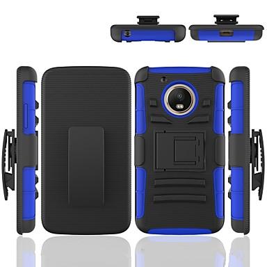 Недорогие Чехлы и кейсы для Motorola-Кейс для Назначение Moto G / Motorola Moto G5 Защита от удара / со стендом Кейс на заднюю панель броня Твердый ПК