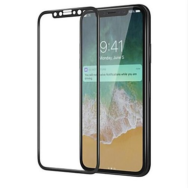 voordelige iPhone X screenprotectors-AppleScreen ProtectoriPhone X High-Definition (HD) Voorkant screenprotector 1 stuks Gehard Glas