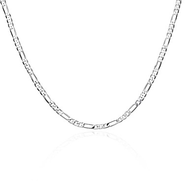 Men's Women's Chain Necklace Geometrical Copper Silver Plated Silver Necklace Jewelry For Daily Work