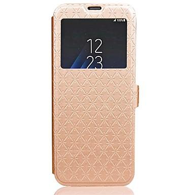 voordelige Galaxy S-serie hoesjes / covers-hoesje Voor Samsung Galaxy S8 Plus / S8 / S7 edge Portemonnee / Kaarthouder / met standaard Volledig hoesje Effen Hard PU-nahka