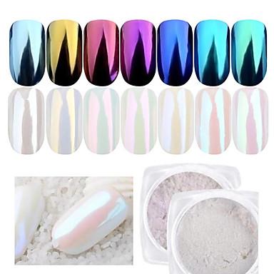 1 buc Pudră / Pulbere cu sclipici Elegant & Luxos / Efectul de oglindă / Strălucitor & Sclipitor Nail Art Design