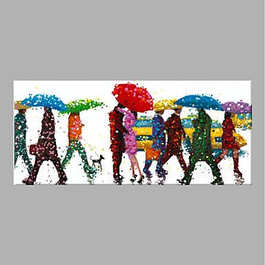 Hang oslikana uljanim bojama Ručno oslikana - Ljudi Sažetak Bez unutrašnje Frame / Valjani platno