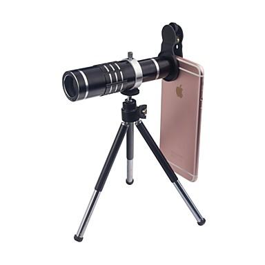 Mobiele telefoonlens Groothoeklens / Macrolens / Telelens Glas 18X Macro iPhone / Samsung / Huawei