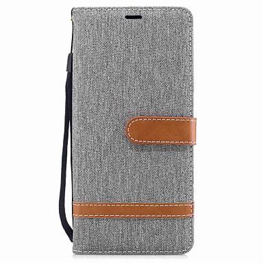 voordelige Galaxy Note-serie hoesjes / covers-hoesje Voor Samsung Galaxy Note 8 Portemonnee / Kaarthouder / met standaard Volledig hoesje Effen Hard tekstiili