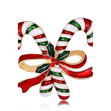 Žene Broševi dame Moda Pozlata od crvenog zlata Broš Jewelry Duga Za Božić Nova Godina