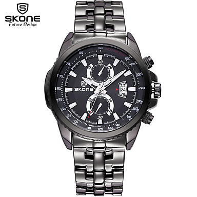 Pánské Dámské Sportovní hodinky Vojenské hodinky Inteligentní hodinky  Křemenný Kov Černá   Stříbro Kalendář kreativita Cool Analogové Přívěšky  Luxus ... 4b6a3cb465