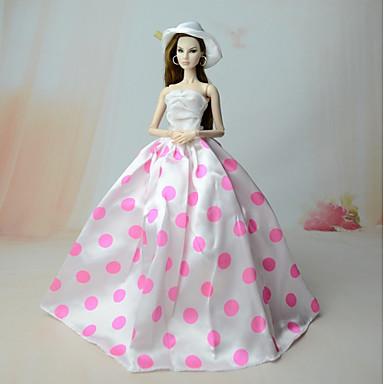6cbd5b0fa24c Kjoler Kjole Til Barbiedoll Polyester   Bomuld   Dakron Kjole Til Pigens  Dukke Legetøj 6217174 2019 – €8.39