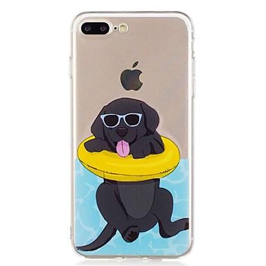voordelige iPhone 6 Plus hoesjes-hoesje Voor Apple iPhone 7 Plus / iPhone 7 / iPhone 6s Plus Transparant / Patroon Achterkant Hond Zacht TPU