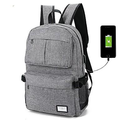 d04af096d8 Ordinateur portable de 14 pouces Sacs à Dos 100 % Polyester Couleur Pleine  pour le bureau d'affaires pour les collèges et les écoles pour voyager avec  port ...