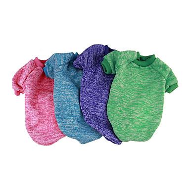 povoljno Odjeća za psa i dodaci-Pas Puloveri Sportska majica Jumpsuits Zima Odjeća za psa Ugrijati Crn purpurna boja Fuksija Kostim Pamuk Jednobojni Ležerno / za svaki dan XS S M L XL XXL