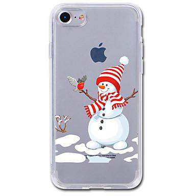 voordelige iPhone 5 hoesjes-hoesje Voor iPhone 7 / iPhone 7 Plus / iPhone 6s Plus iPhone SE / 5s Transparant / Patroon Achterkant Cartoon / Kerstmis Zacht TPU
