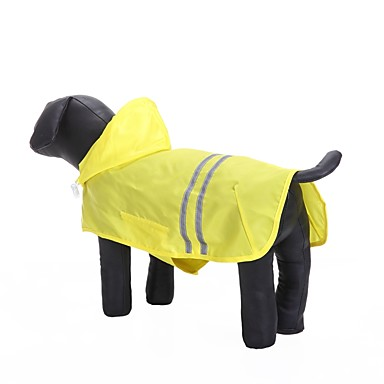 رخيصةأون ملابس وإكسسوارات الكلاب-قط كلب هوديس معطف المطر ملابس الكلاب فوشيا أصفر أزرق كوستيوم أكسفورد القماش تيريليني مادة مضادة للماء لون سادة كاجوال / يومي مقاومة الماء الرياضات XXS XS S M