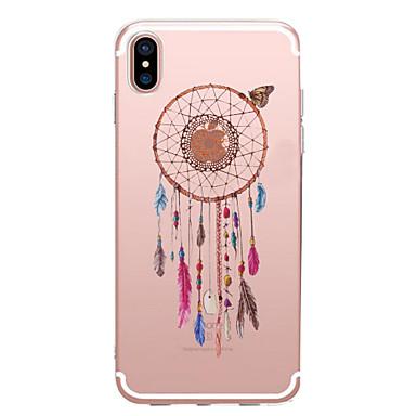 voordelige iPhone 6 hoesjes-hoesje Voor Apple iPhone X / iPhone 8 Plus / iPhone 8 Transparant / Patroon Achterkant Dromenvanger / Bloem Zacht TPU