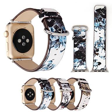 זול רצועות לApple Watch-צפו בנד ל סדרת Apple Watch 5/4/3/2/1 Apple אבזם קלאסי עור אמיתי רצועת יד לספורט