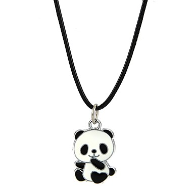 Bărbați Pentru femei Coliere cu Pandativ Panda Animal Aliaj Negru Coliere Bijuterii Pentru Petrecere Club