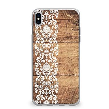 voordelige iPhone-hoesjes-hoesje Voor Apple iPhone X / iPhone 8 Plus / iPhone 8 Ultradun / Patroon Achterkant Houtnerf / Lace Printing Zacht TPU