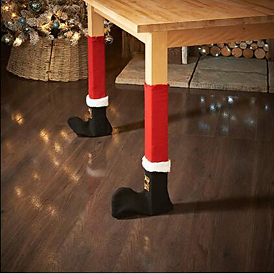 povoljno Dekoracija doma-2pc / set božićna stolica noga noge pokrov stol ukras za party večera božićni ukras stranka blagovaona stolica čarape pokriva