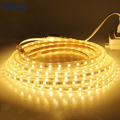 economico Strisce LED flessibili-18m 1080SMD LED 5050 SMD 10mm Bianco caldo / Bianco / Rosso Impermeabile / Accorciabile 220 V