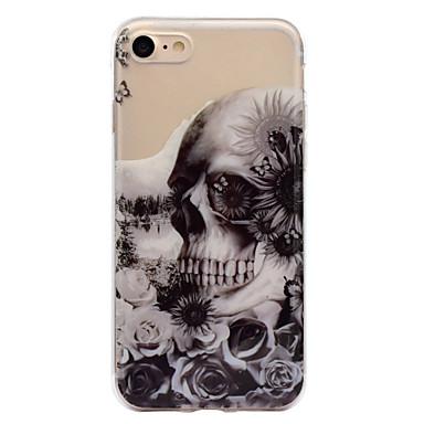 voordelige iPhone 5c hoesjes-hoesje Voor Apple iPhone 7 Plus / iPhone 7 / iPhone 6s Plus IMD / Patroon Achterkant Doodskoppen Zacht TPU